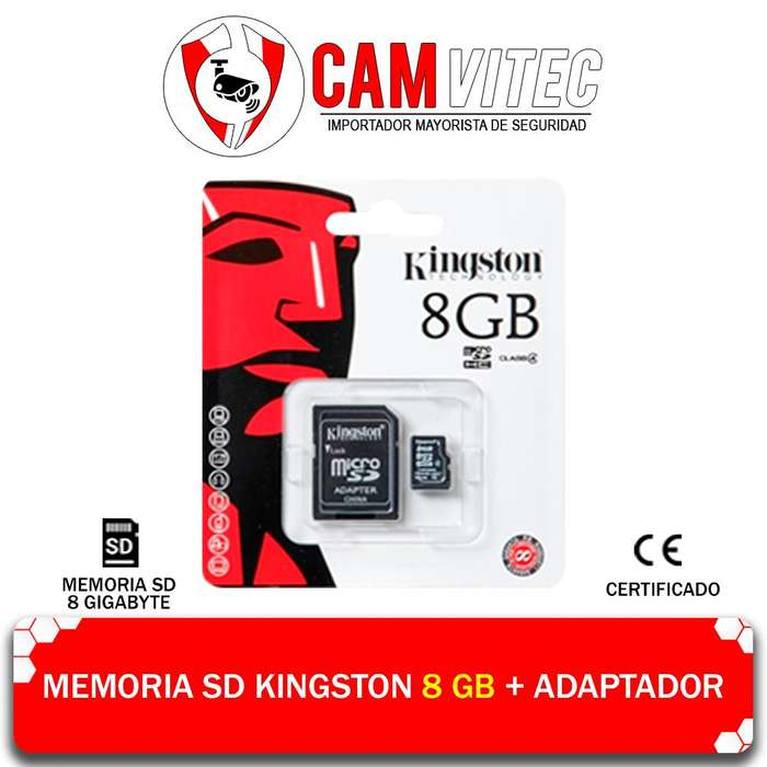 Memoria Micro Sd 8gb Adaptador Almacenamiento Clase 10