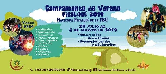 CAMPAMENTO VACACIONAL PICALQUÍ 2019