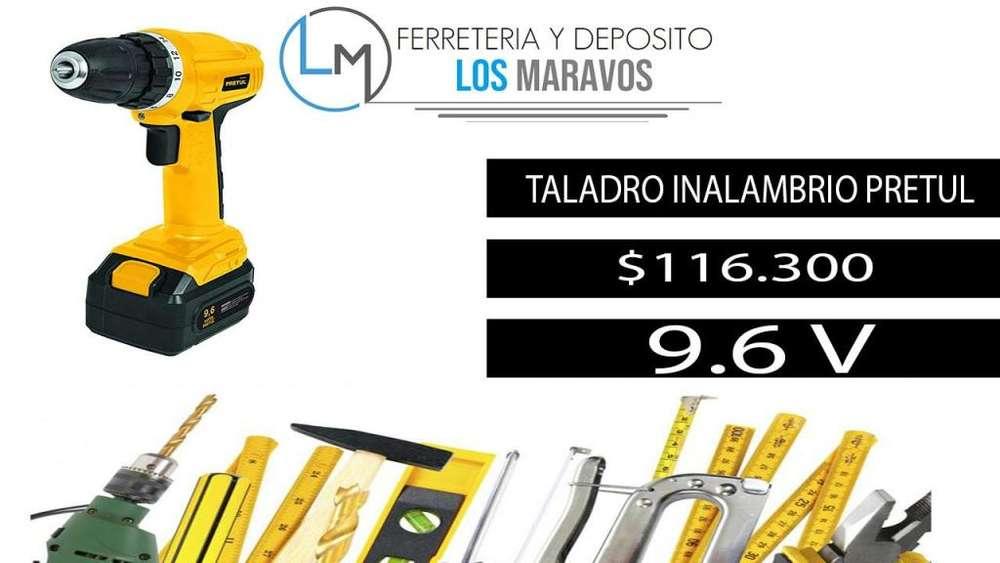 Taladro Atornillador INALAMBRICO PRETUL 9.6 V TALADRO
