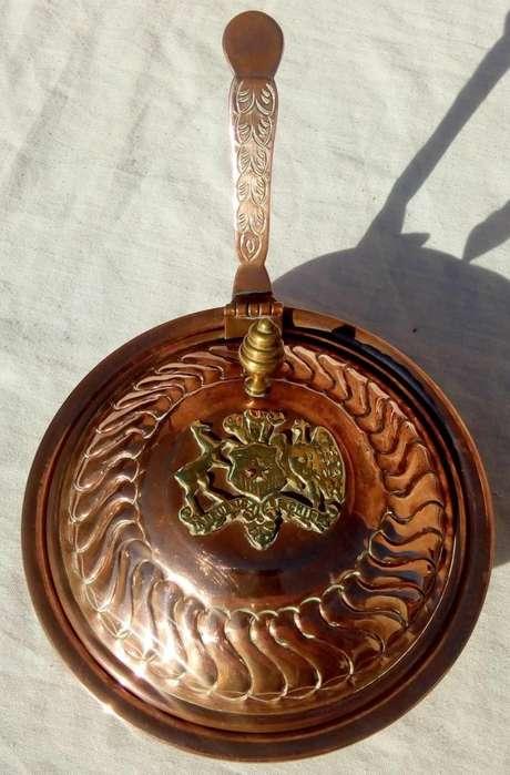 Antigua azucarera dulcera de cobre y bronce