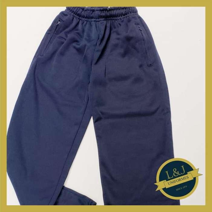 Pantalones Deportivos Color Azul Frizado