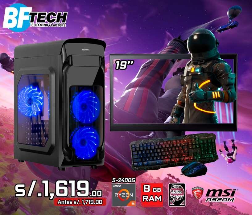PC GAMING RYZEN 5 2400G 3.6GHz 12