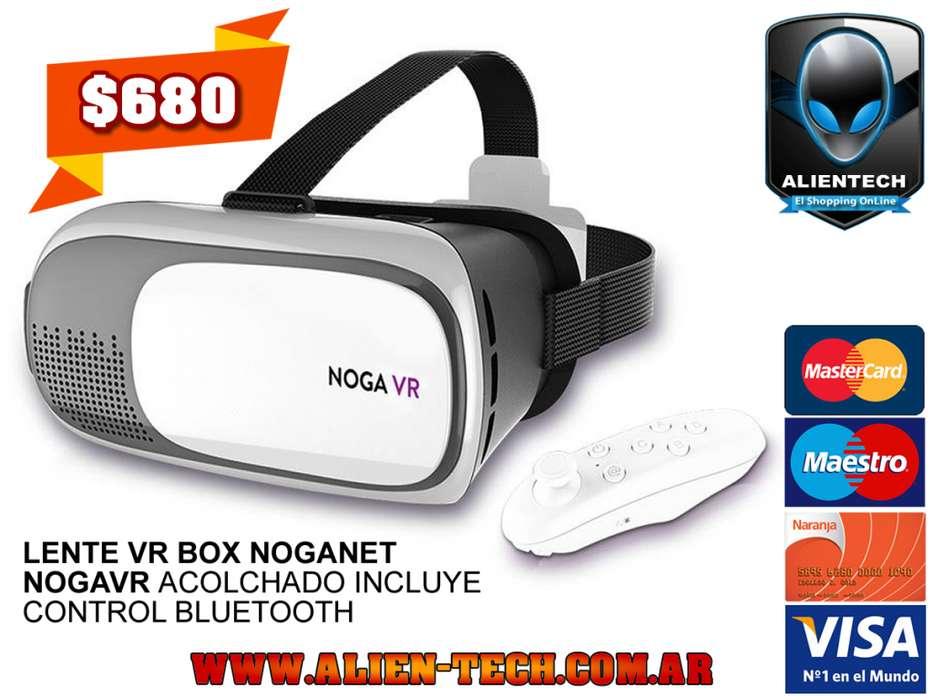 ALIENTECH: LENTE VR BOX NOGANET NOGAVR ACOLCHADO INCLUYE CONTROL BLUETOOTH