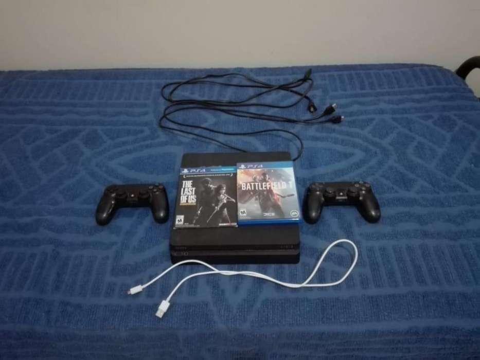 <strong>playstation</strong> 4 - 500GB - 2 controles 2 juegos - Condicion Impecable