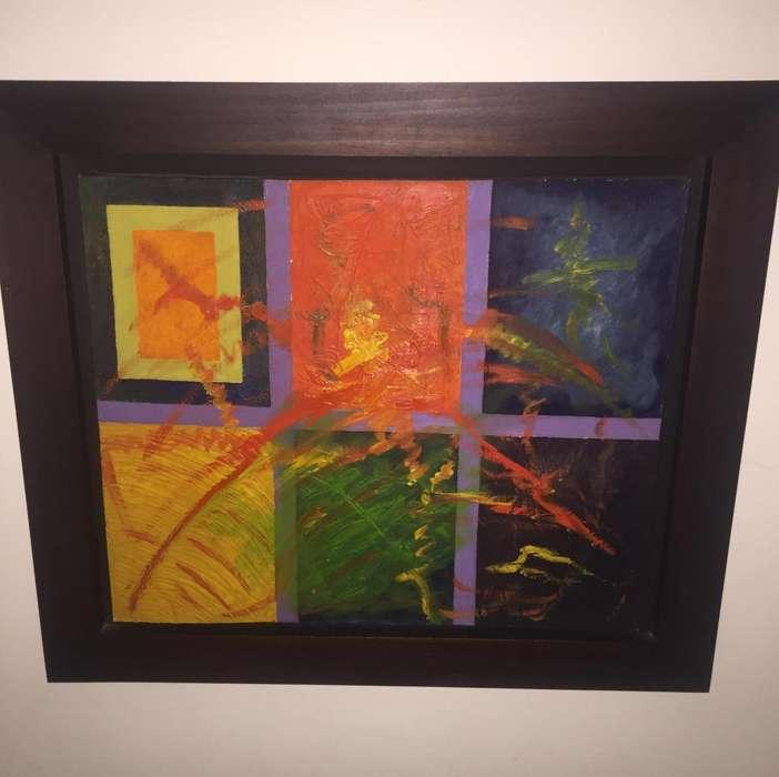 Cuadro Oleo Abstracto Original