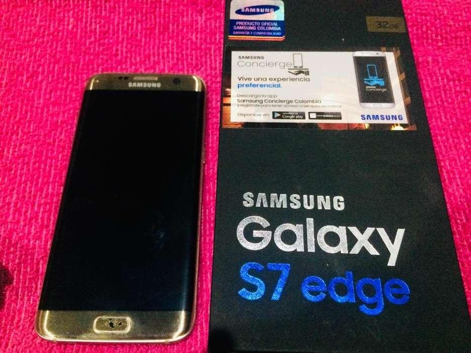 S7 Edge Dorado 32Gb Samsung Vendo Cambio