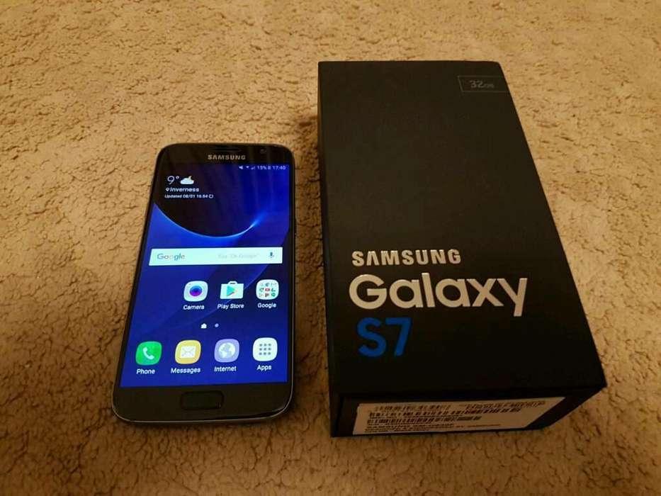 Samsung S7 Black Onyx, Impecable en Caja