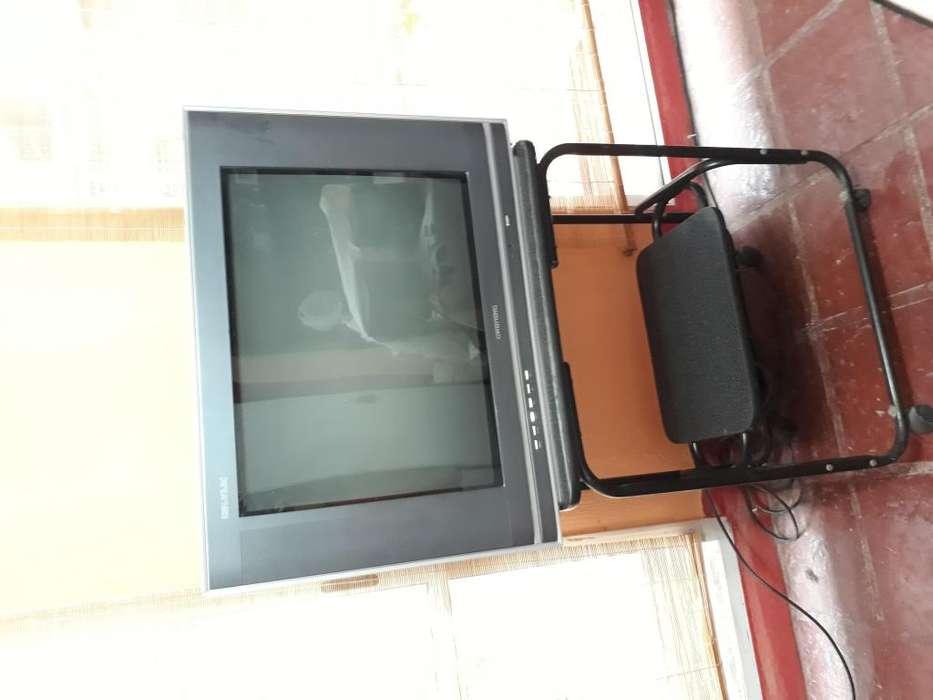 Televisor pantalla plana 29 pulgadas con mesa para tv