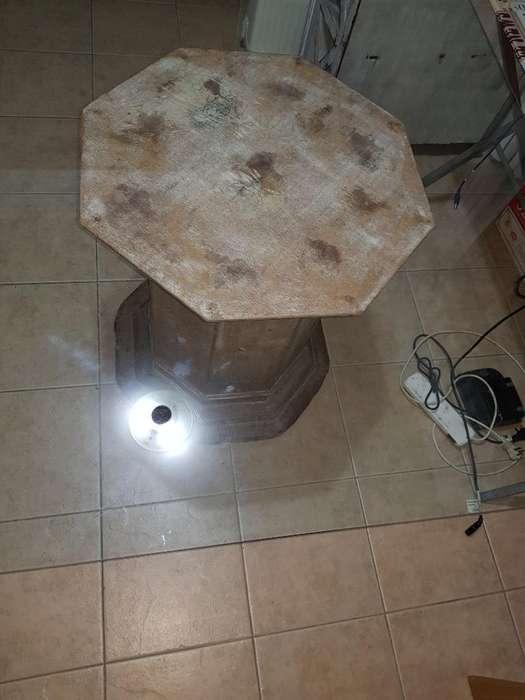 Pie de Mesa C/vidrio 1,20 X 1,20