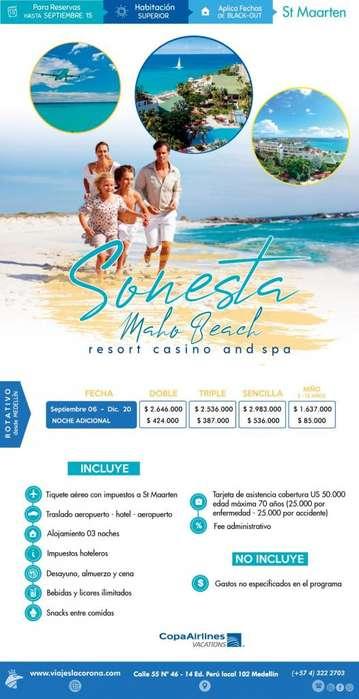 Viaje como un Rey a St Maarten H. SONESTA MOHO BEACH con Viajes la Corona