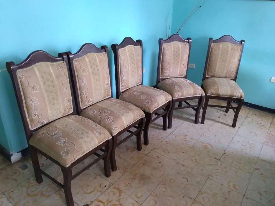 Vendo 5 <strong>silla</strong>s para Comedor Negociable