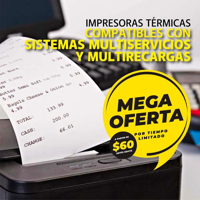 <strong>impresora</strong> termica de facturas multisistemas