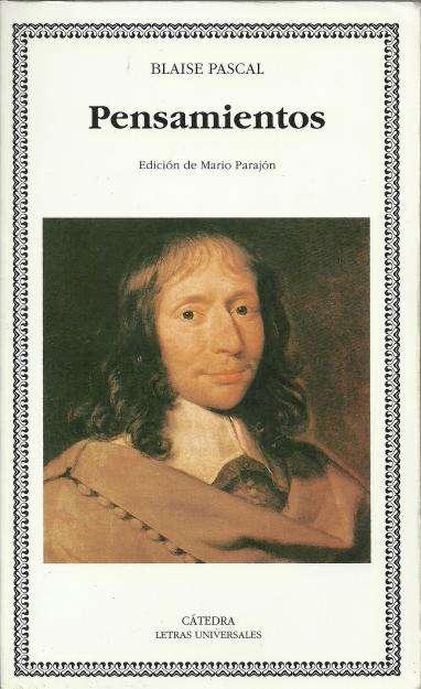 Pensamientos de Blaise Pascal. Libro usado.