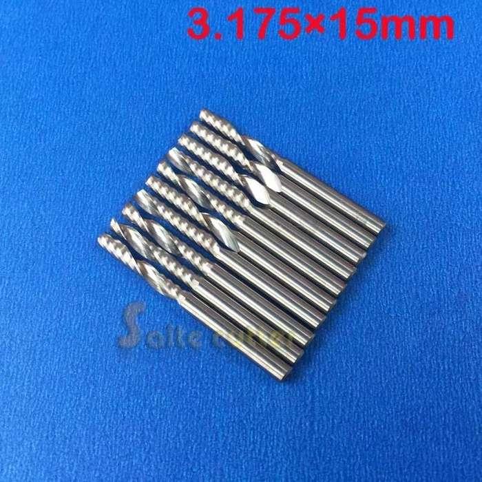 Fresa Router Cnc Recta De 2 Filos 3.175 X 15 Mm