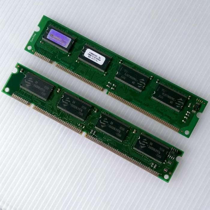 Memorias Sdram Pc133 de 64MB, 128MB y 256MB