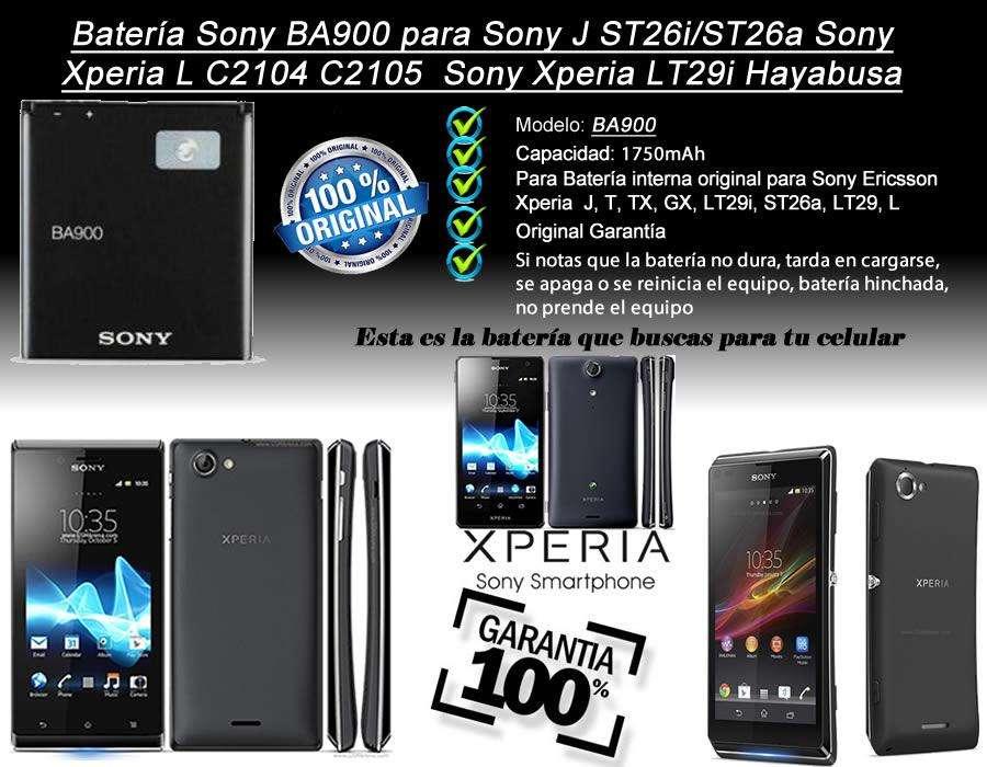 Bateria Sony Xperia L C2104 C2105 M C1904 C1905 Ba900 Origin