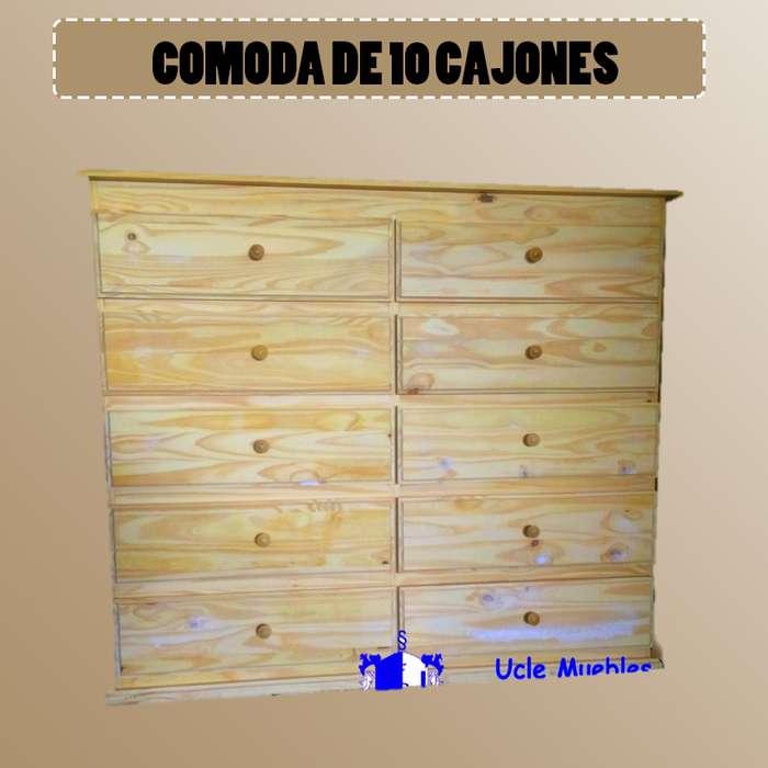 COMODA DE 10 CAJONES