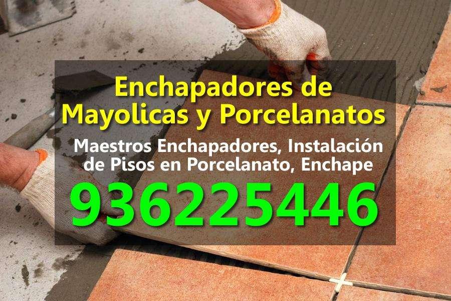 Enchapado Porcelanatos Mayolicas, Instalacion de Pisos, Enchape, Enchapadores