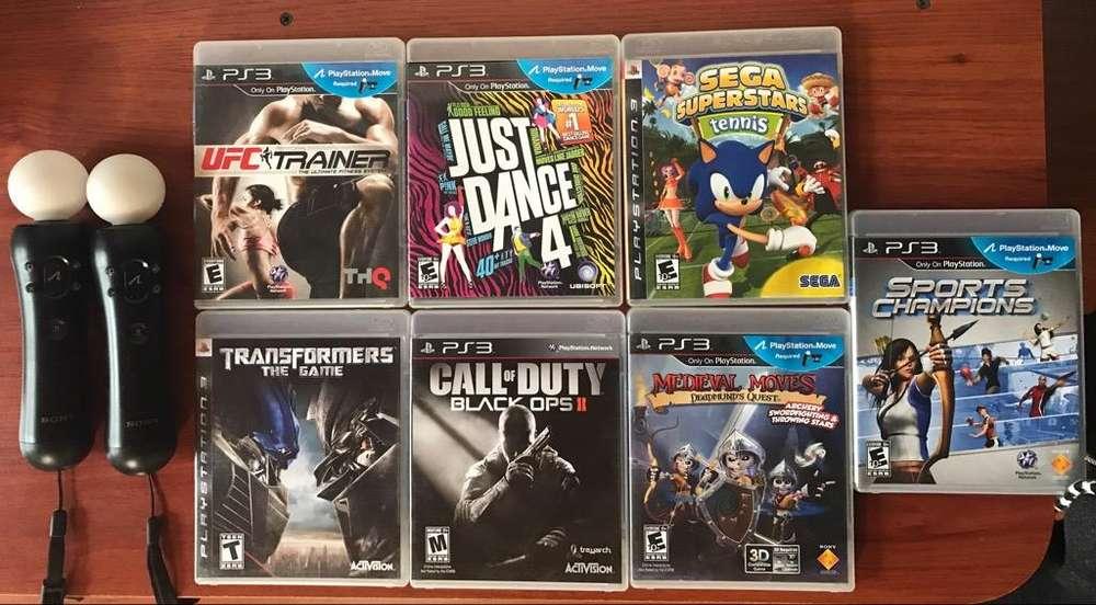 Sony Move 3 Y 7 Juegos Para Playstation 3