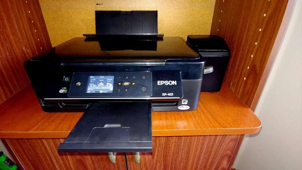 Epson XP 401 y Sistema Continuo y Repuesto inyectores