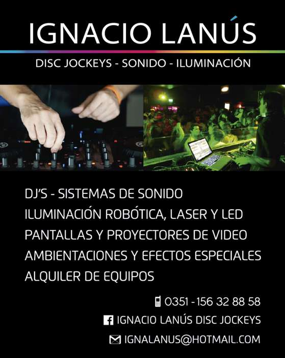 DJ SONIDO ILUMINACION LED FIESTAS Y EVENTOS ALQUILER CORDOBA