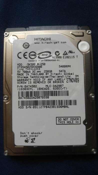 Disco Duro Hitachi para <strong>laptop</strong> 250gb