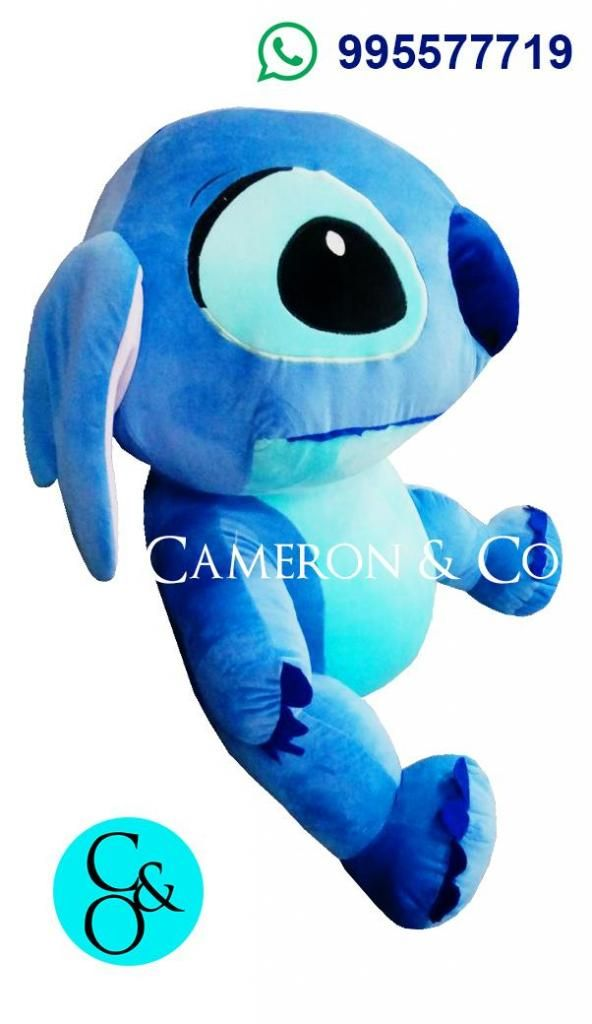 Peluche Azul Stitch Disney Tamaño Real Gigante 100 CM PRECIO OFERTA NOVIEMBRE