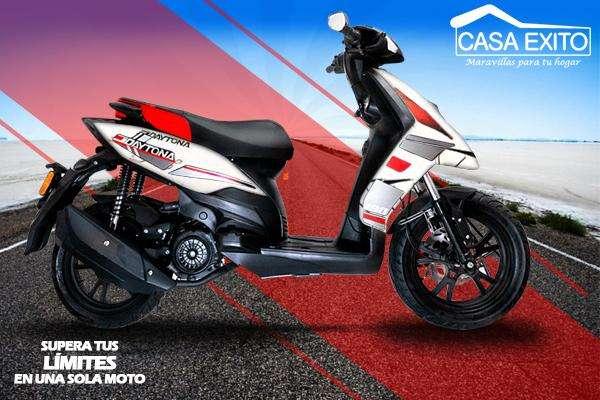 Moto Daytona Dy180 Agility 180cc Año 2019 Blanco / Negro Casa Éxito
