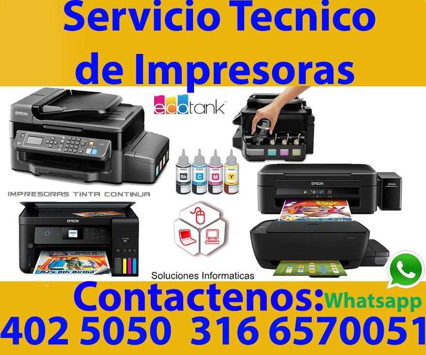 Reparación de impresoras en Cali Tel: 4025050 3166570051 WhatsApp