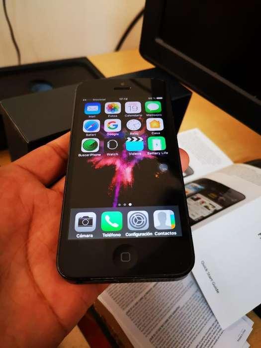 iPhone 5 16gb Funcional con Caja 110 Dol