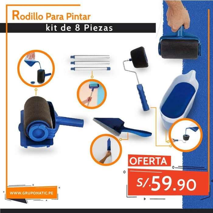 Rodillo Para Pintar Paint Roller 8 piezas Gruponatic San Miguel Surquillo Independencia La Molina Whatsapp 941439370