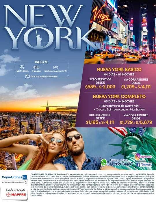 155 Viaje a Nueva York salida desde Lima Tours en NY
