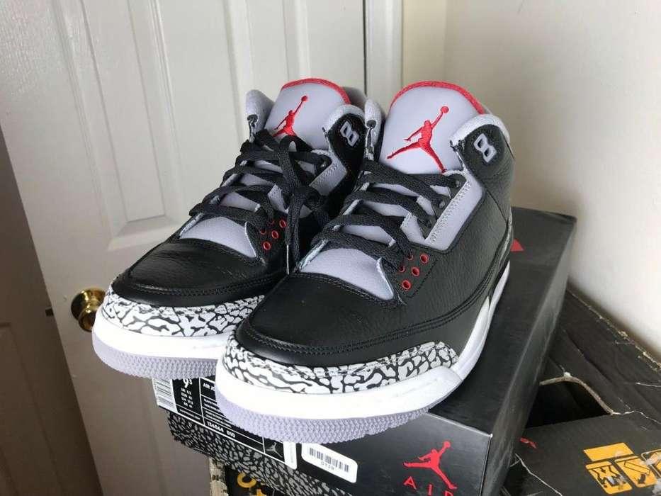 Zapatos Jordan talla 9.5 retro 3 Originales