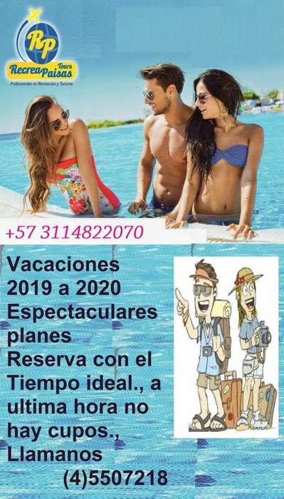 Vacaciones 2019 - 2020 con RecreaPaisas Tours