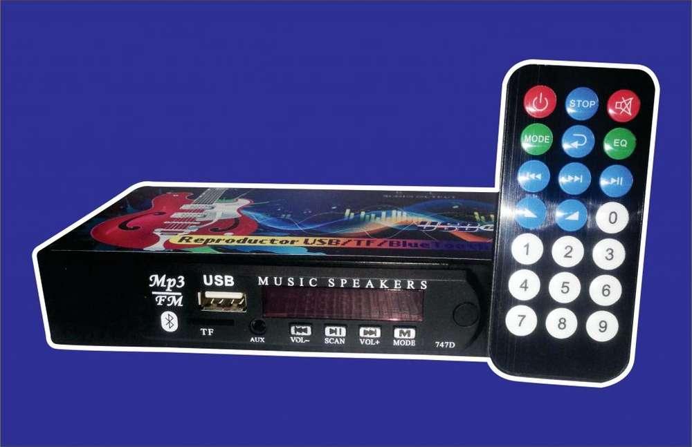 Módulo PreAmplificador y Radio FM Conexión Bluetooth Decodificador Mp3 USB