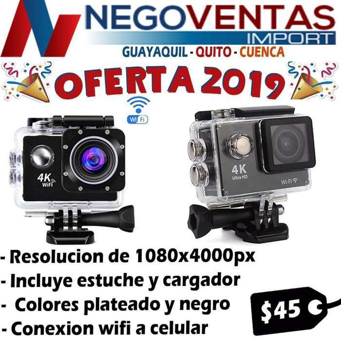 CAMARA DEPORTIVA TIPO GO PRO 4K ESTUCHE DE AGUA Y <strong>accesorios</strong>