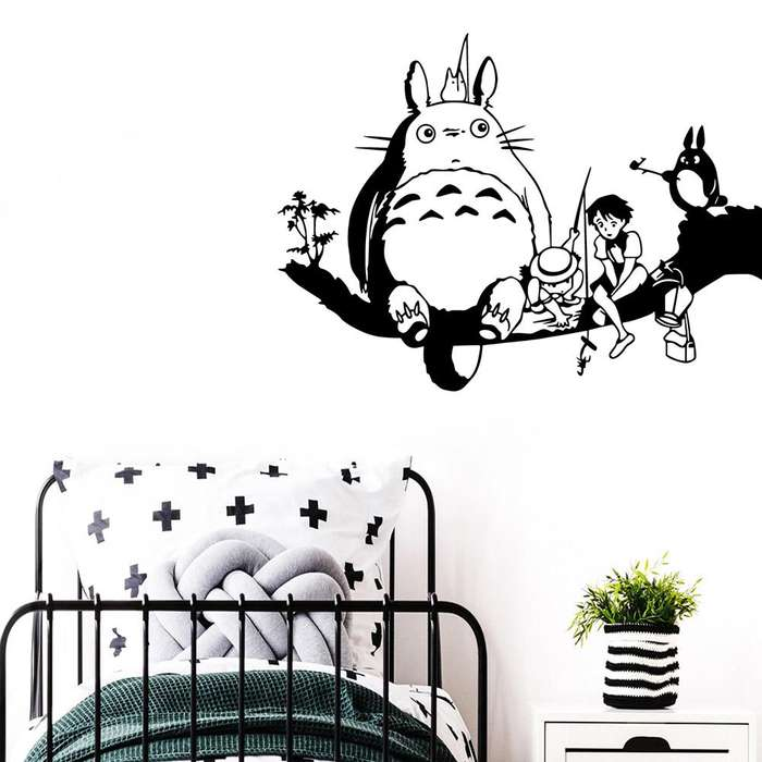 Vinilos Decorativo TOTORO pared Anime Studio Ghibli Japon