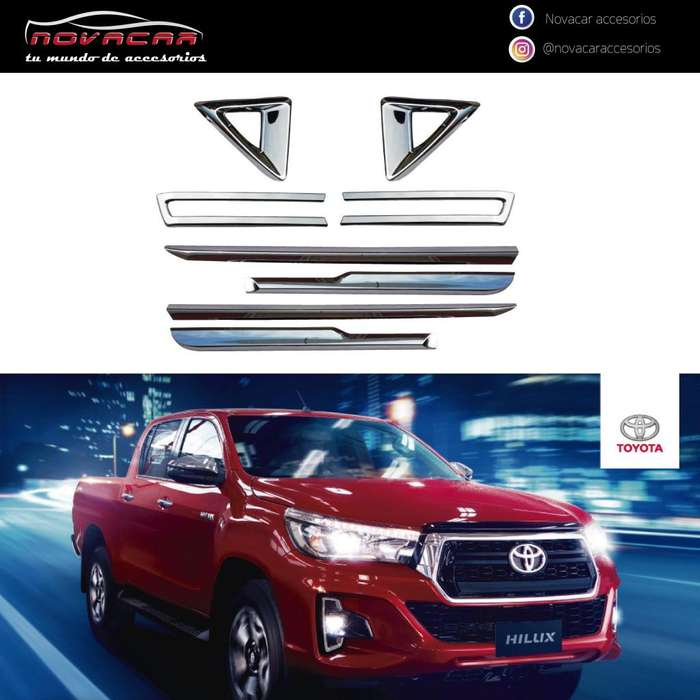 KIT ADHESIVO PARTE FRONTAL Y LATERAL P/ TOYOTA HILUX
