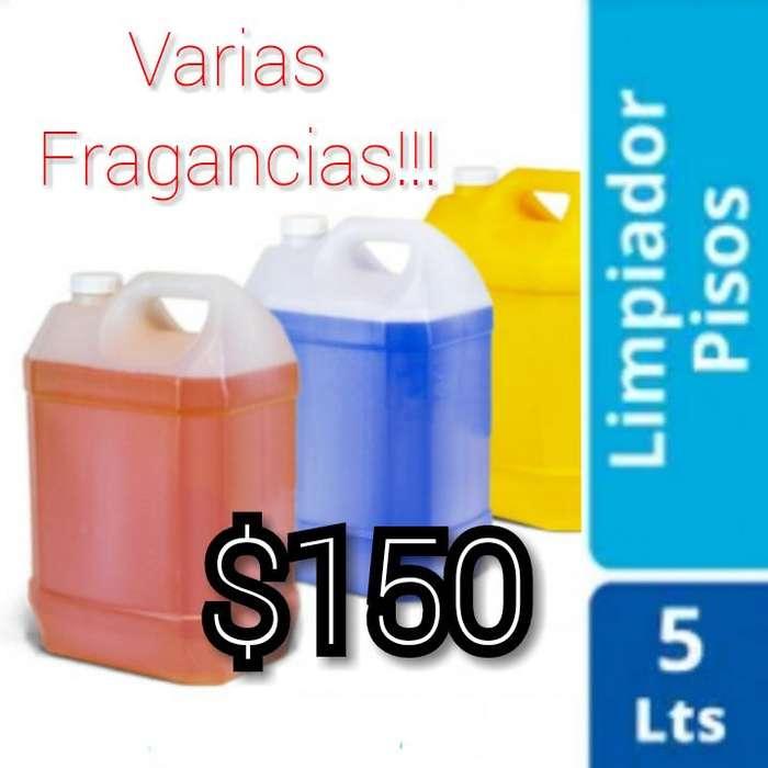 Limpiador de pisos x 5ltrs (varias frag) 150