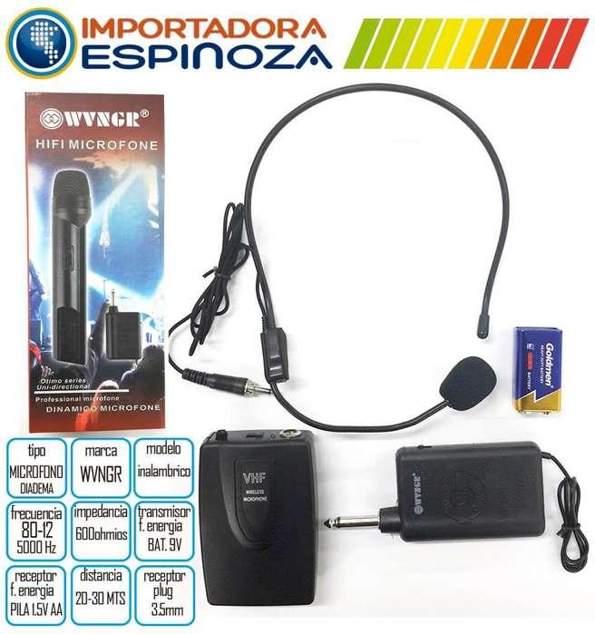Microfono Inalambrico Diadema Profesional Alta Calidad Wg192
