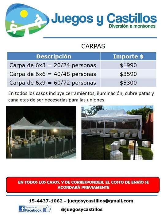 ALQUILER DE CARPAS / GACEBOS