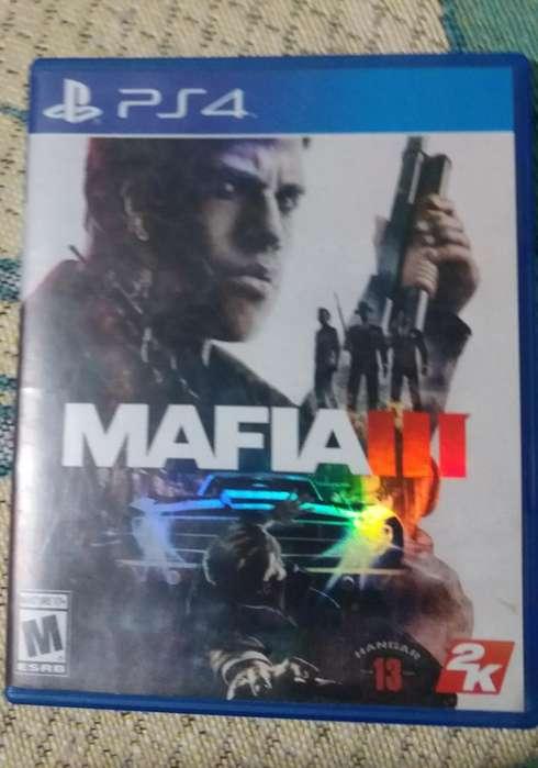 Mafia 3 Ps4, Estado 10/10, solo cambios juegos ps4