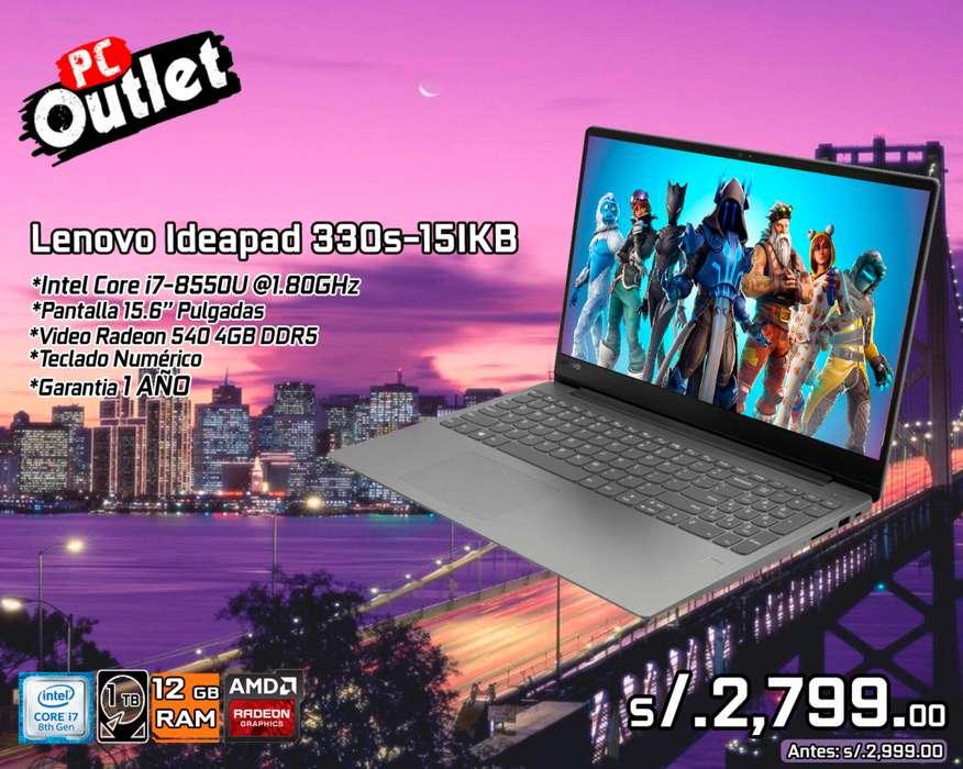 Lenovo Ideapad 330s-15ikb Intel i7-8550U vd 4gb ddr5