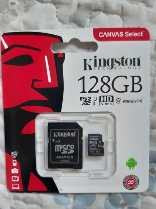 MEMORIA KINGSTON 128GB SD, CLASE 10 ORIGINALES, ZONA BELGRANO