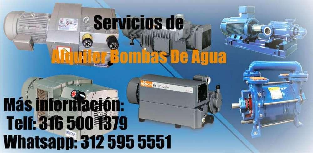 Servicio de alquiler Bombas De Agua