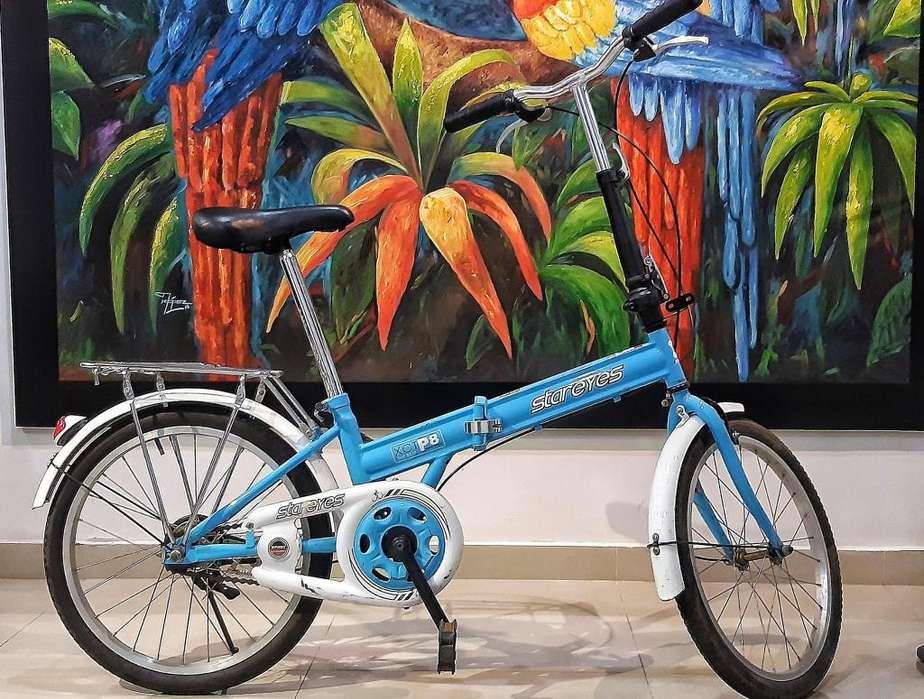 Hermosa bicicleta Plegable