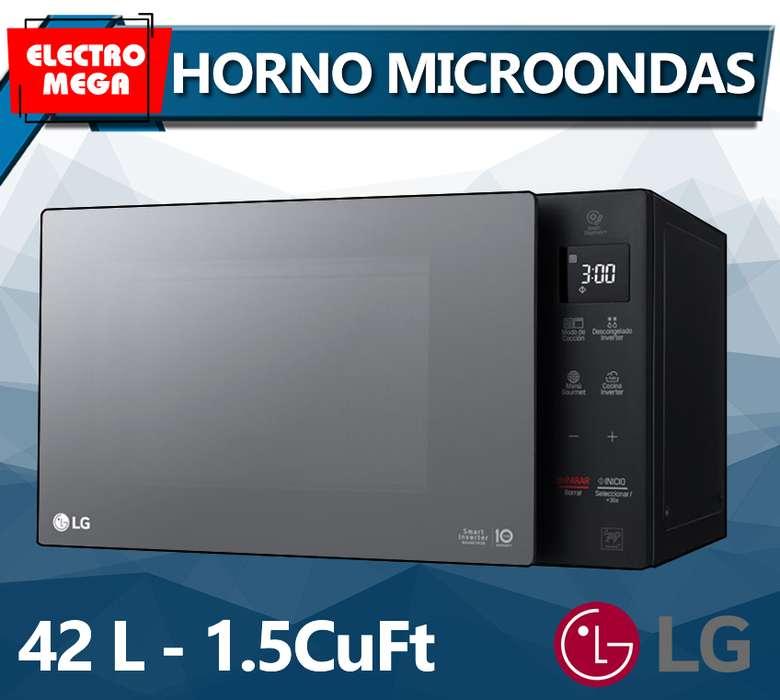 Horno Microondas LG Sin Grill 42 Litros 1.5 cu MS1536GIR