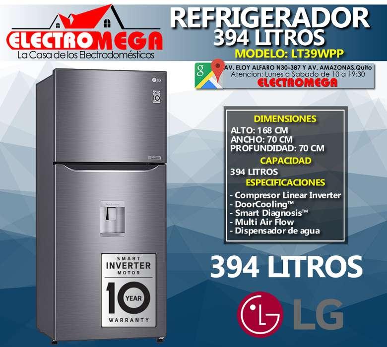 Refrigeradora Lg Inverter 394 Litros 14 Pies Lt39wpp