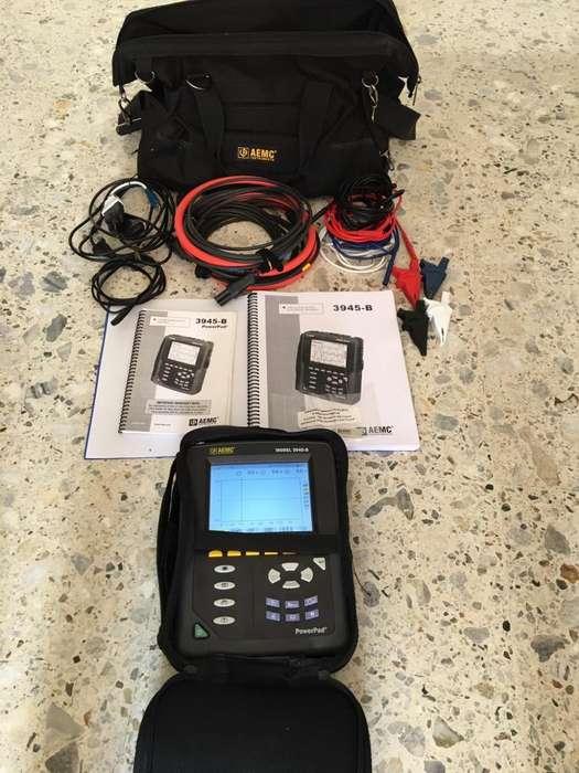 VENDO ANALIZADOR DE REDES ELECTRICAS AEMC 3945B, 6.500 AMPERIOS