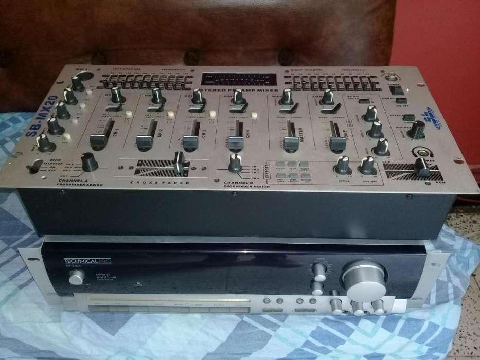 Ganga Sonido, Amplificador y Mixer
